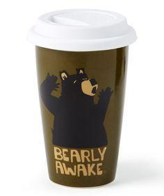 Look at this 'Bearly Awake' 10-Oz. Travel Mug on #zulily today!