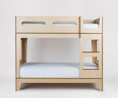 More click [.] Bunk Bed Designs Kids Castello Bunk Bed Designer Bunk Bed Plyroom Bunk Beds Minimalist Modern Design By Plyroom In Stock Now Low Bunk Beds, Bunk Bed Ladder, Modern Bunk Beds, Kids Bunk Beds, Loft Beds, Loft Spaces, Storage Spaces, Sharing Bed, Pull Out Bed