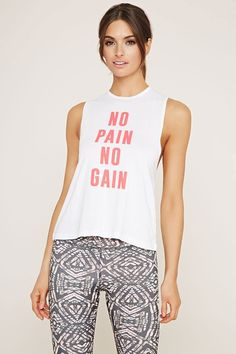 FOREVER 21 active gain graphic tank