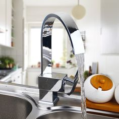 New Swivel Spout Swivel Waterfall  Kitchen Basin Sink Faucet Chrome Tap Mixer Taps Kitchen Faucet