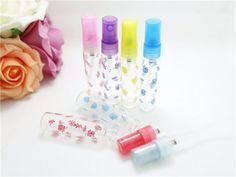 Rosa botellas de aerosol de cristal del atomizador del perfume recargable vacío 10ml maquillaje