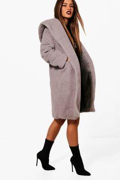 add8055d341 Petite Oversized Hooded Teddy Coat