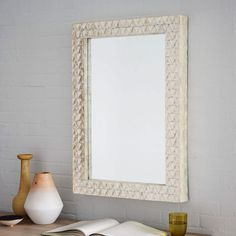 Parsons Wall Mirror - Capiz West Elm