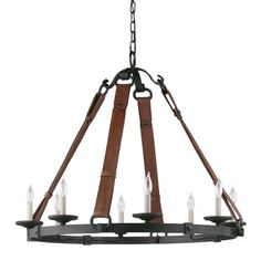 Equestrian Leather Tack Chandelier ...handsome addition to the room