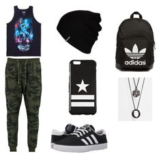 """""""Untitled #32"""" by heedagurl on Polyvore featuring Famous Stars & Straps, adidas, Hurley, Givenchy, adidas Originals, ASOS, men's fashion and menswear"""