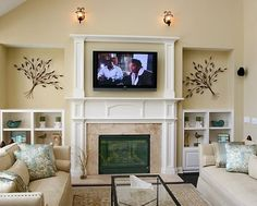 wall mounted tv ideas above fireplace