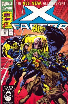 X-Factor #71 introduces the new and my favorite team roster written by Peter David.