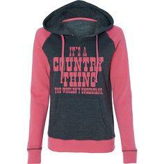 Juniors Country Girl® Country Thing Raglan Hooded Pullover Sweatshirt