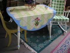 An Old Drop Leaf Table Refreshed And Pretty Again  Design by Jennifer Rizzo