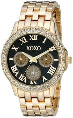 awesome Women's XO182 Analog Display Analog Quartz Gold Watch - For Sale Check more at http://shipperscentral.com/wp/product/womens-xo182-analog-display-analog-quartz-gold-watch-for-sale/