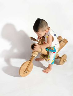 The a21studio Bamboo Bicycle is Made Using Nothing but Wood and Rope #eco #toys trendhunter.com