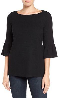 Women's Pleione Stripe Knit Bell Sleeve Top