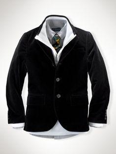 Polo II Velvet Jacket in navy or black - Boys 1 ½ - 6 years Blazers - Ralph Lauren France $202