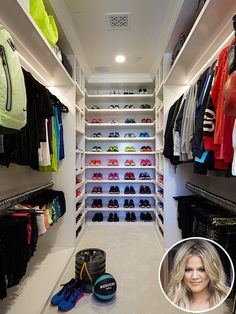Inside 25 Celebrity Closets That'll Blow Your Mind | People - Khloe Kardashian's fitness closet