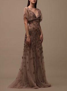 belleamira: Krikor Jabotian F/W Krikor Jabotian, Starry Eyed, Beige, Gowns, Formal Dresses, Clothes, Fashion, Vestidos, Dresses For Formal
