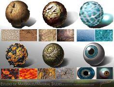 Estudio de Materiales / Material Studies. by GustavC.deviantart.com on @deviantART