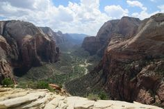 View of the canyon from Angels' Landing