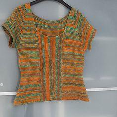 Ravelry: Summertime Garter Stitch Top pattern by Sybil R Sweater Knitting Patterns, Knitting Designs, Knit Patterns, Free Knitting, Sewing Designs, Knitted Headband, Garter Stitch, Knit Fashion, Knit Jacket