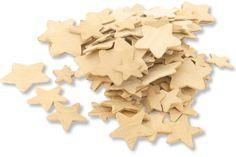 Set d`étoiles en bois, tailles assorties