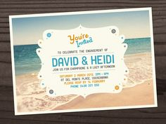 Engagement party postcard invite Invitation Wedding