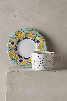 Forbury Teacup & Saucer - anthropologie.com