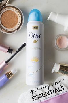 Glamping Beauty Essentials - My Newest Addiction #DovePartner #TryDry