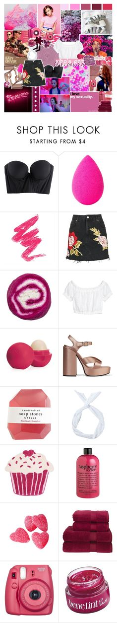 """""""✿ but i got the power"""" by styleboy ❤ liked on Polyvore featuring La Vie en Rose, Cosabella, beautyblender, Topshop, Eos, Jil Sander, Sharpie, philosophy, Christy and Fujifilm"""