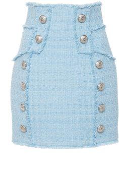 Shop the latest Balmain collection at Moda Operandi. Petite Fashion, Curvy Fashion, Cute Skirts, Mini Skirts, Tweed Mini Skirt, Clothing Hacks, Classy Outfits, Fashion Outfits, Fashion Capsule