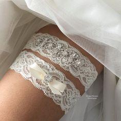 Bridal Garter-Wedding Garter-Rhinestone by RoseybloomBoutique