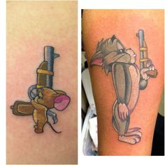 His and hers tom and jerry couples tattoo done by meghan patrick - … cute! His and hers tom and jerry couples tattoo done by meghan patrick - Bro Tattoos, Pair Tattoos, Brother Tattoos, Sibling Tattoos, Dope Tattoos, Body Art Tattoos, Tattoos For Guys, Tatoos, Disney Couple Tattoos