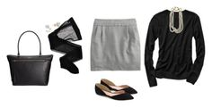 """""""OOTD 01.18.17"""" by elie2882 ❤ liked on Polyvore featuring Kate Spade, Gap, J.Crew, Wolford and Fallon"""