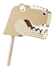 Cardboard T-Rex Head