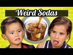 KIDS vs. FOOD - WEIRD SODAS - YouTube