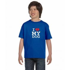 I LOVE MY DOG - Dětské tričko s textem Miluji svého pejska 750d93f2b5