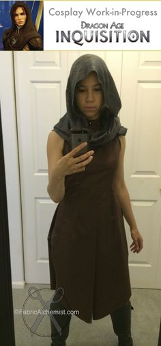 WIP Leliana cosplay--DA:I mail and leather robes