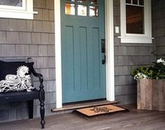 "5 Bright Palettes for Front Doors (check out Benjamin Moore ""Softened Violet"" 1420 in comments)"