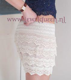 kanten broek/rokje       , vintage inspired      www.jewelqueen.nl
