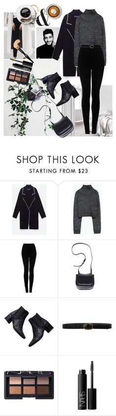 """Zayn Malik"" by emmsstylinson ❤ liked on Polyvore featuring Zara, Topshop, The Row, Linea Pelle and NARS Cosmetics"