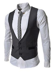 Vests Worsted Cotton Sale Men Yutongyuxuan 2017 New Vest Slim Dress Solid Color Casual Business Suit Gilet Colete Fashion Dress Vest, Sleeveless Jacket, Mens Suit Vest, Mens Suits, Mens Attire, Men's Waistcoat, Gear Best, Slim Suit, Mein Style
