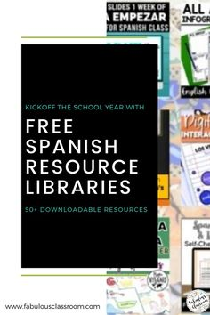Do you need a little help getting ready to head back into the classroom? Don't worry, we've got you covered! This amazing Back to School Resource Library for Secondary Spanish has 27 resources, perfect for back to school! There is also an Elementary Resource Library, as well as a surprise you do not want to miss! #teacher #teaching #backtoschool #education #teachers #spanishteacher #spanishlessons #spanishlearning Spanish Lessons For Kids, Spanish Teaching Resources, Spanish Lesson Plans, School Resources, Teacher Resources, Homeschooling Resources, Lesson Plan Templates, Spanish Teacher, Class Activities