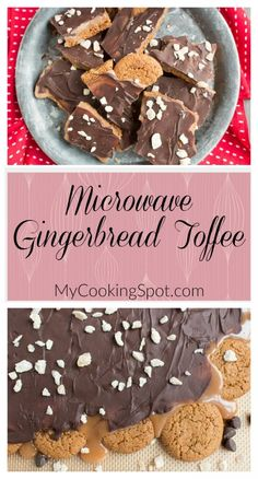 Microwave Gingerbread Toffee - My Cooking Spot