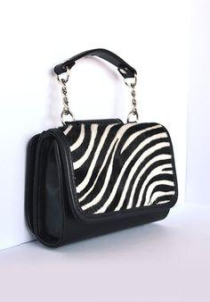 Pochette MiniME Safari white/black  MADE IN ITALY  Shop now on www.dezzy.it