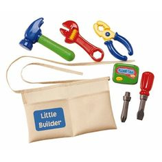 Toddlers and Toys! Little Builder Tool Belt with Toy Tools from Educational Toys Planet