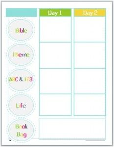 Preschool Lesson Plan Template  Amy    Lesson Plan