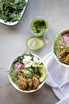 Quinoa Baby Cakes with Herbed Tahini | Wholehearted Eatd