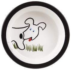 Melia Pet Dog Front Ceramic Dog Bowl - Large >> Trust me, this is great! Click the image. : Dog bowls