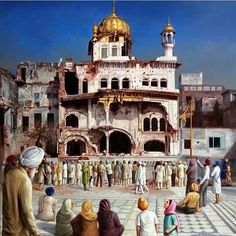 1984 Akal Takht in the aftermath of the 1984 attack from... #sikhblog #feedly