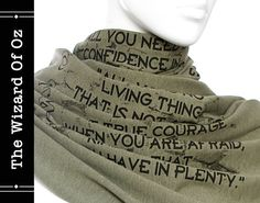 The Wizard Of Oz book on the scarf Text Scarf  by LiteratiClub, $35.00