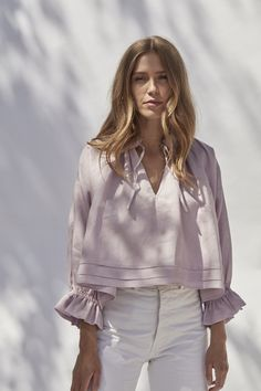 Offering sustainable alternatives without compromising on style. Made in London. Fashion Sewing, Minimal Fashion, Mode Inspiration, Blouse Designs, Fashion Dresses, Women Wear, Street Style, My Style, Womens Fashion