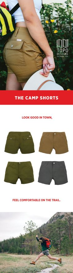 Shop women's camp shorts, perfect for rising temps this Summer. Made for anywhere on your map.